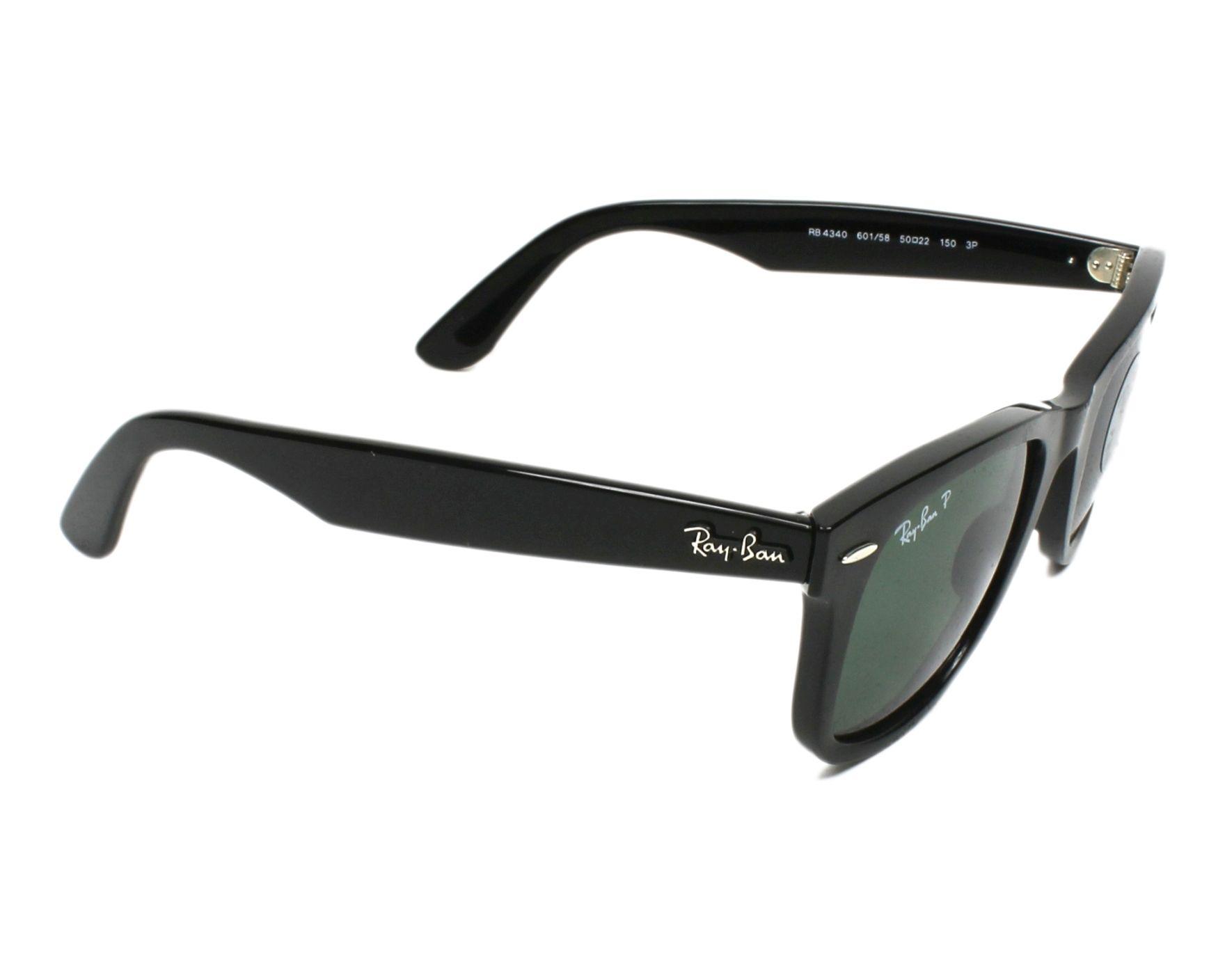 135400976e9 Sunglasses Ray-Ban RB-4340 601 58 50-22 Black side view