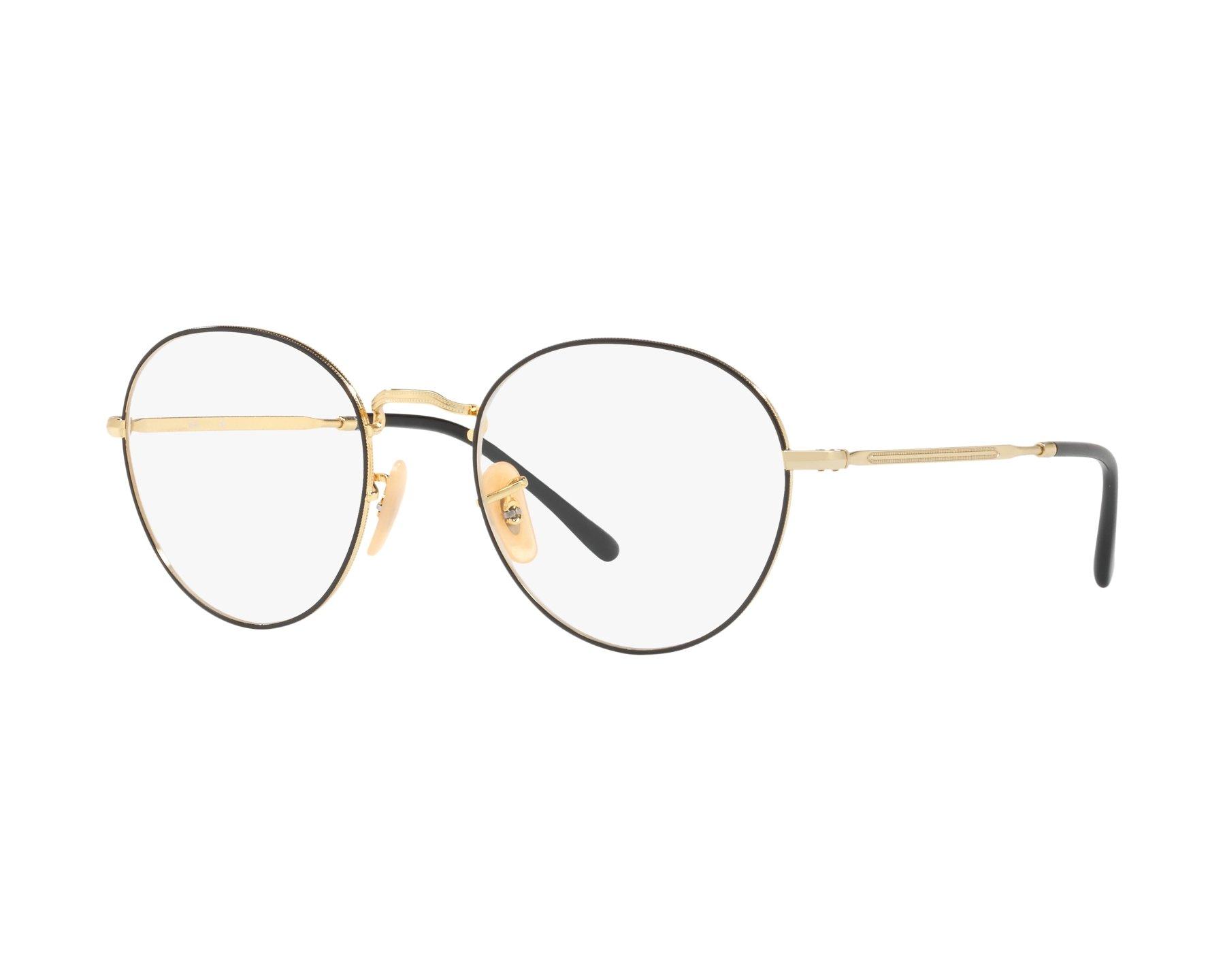 92d4f94465 eyeglasses Ray-Ban RX-3582-V 2946 49-20 Black Gold