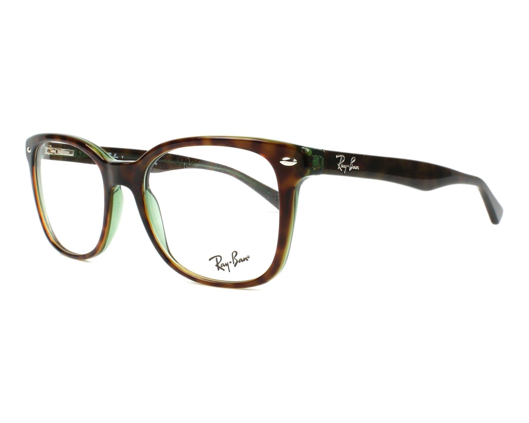 38aed3f787f eyeglasses Ray-Ban RX-5285 2383 53-19 Havana Green profile view
