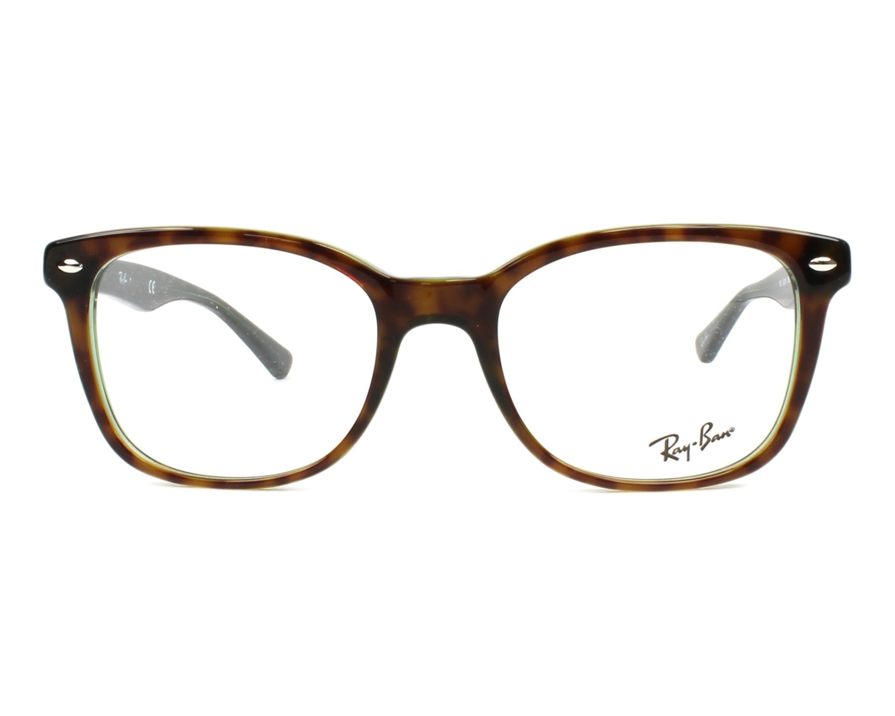 cda655c9670 eyeglasses Ray-Ban RX-5285 2383 53-19 Havana Green front view