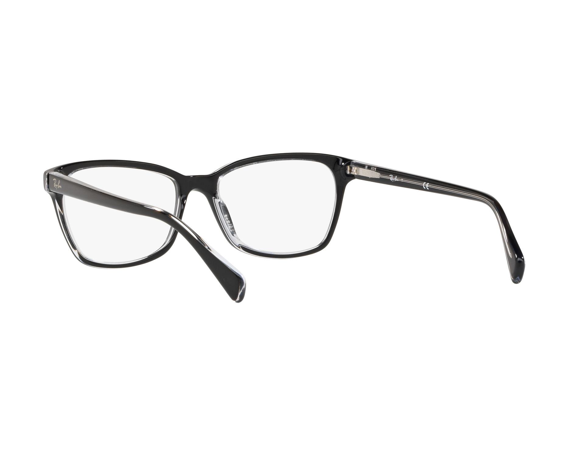 cc8a2c0f589 eyeglasses Ray-Ban RX-5362 2034 52-17 Black Crystal 360 degree view