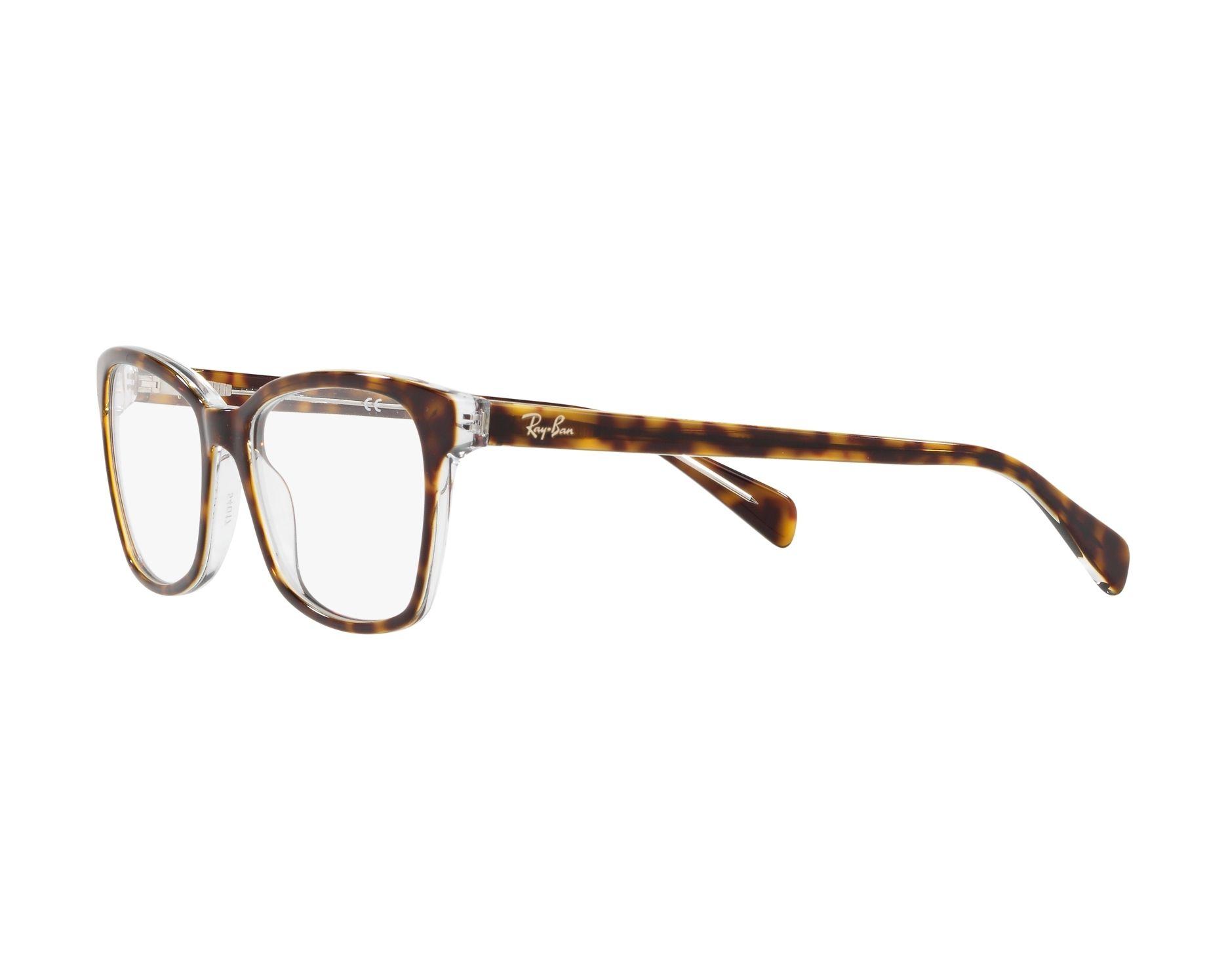 b5f817a0c1 eyeglasses Ray-Ban RX-5362 5082 52-17 Havana Crystal 360 degree view