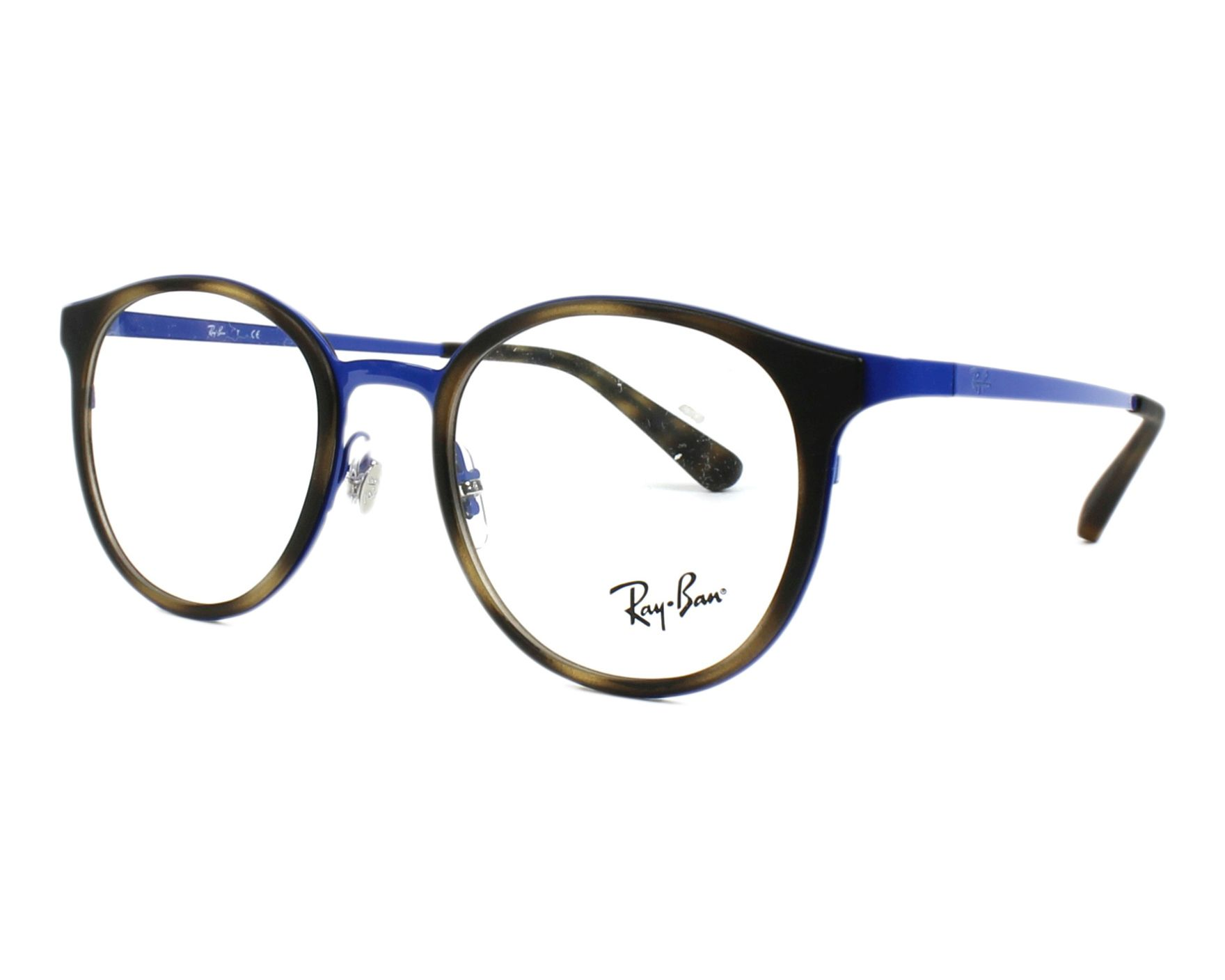 482169f6853 eyeglasses Ray-Ban RX-6372-M 2955 50-19 Blue Havana profile