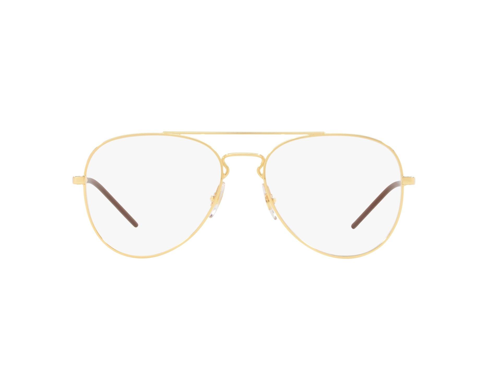 4d49daf139b eyeglasses Ray-Ban RX-6413 2500 54-17 Gold 360 degree view 1