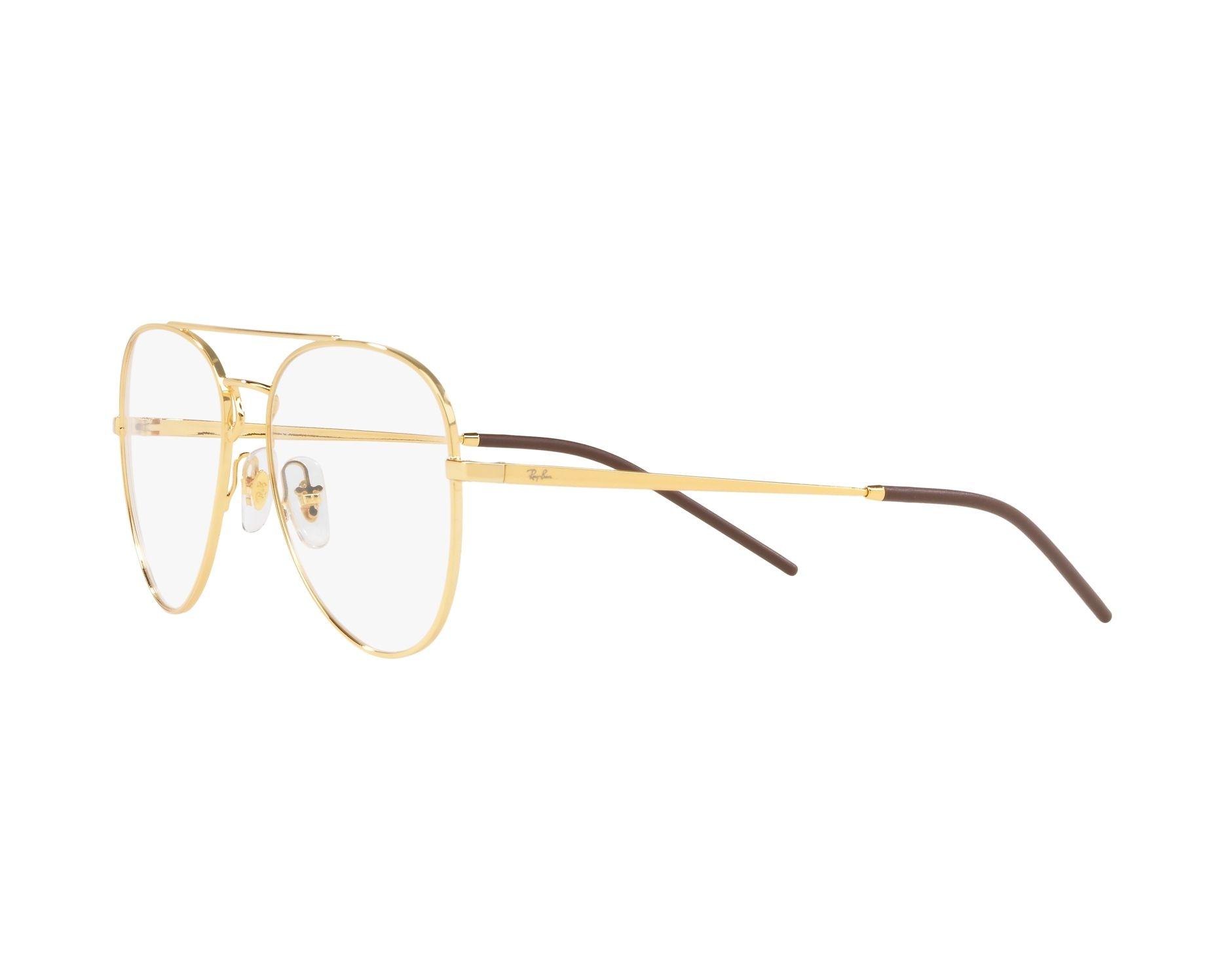 56a6b205e24 eyeglasses Ray-Ban RX-6413 2500 54-17 Gold 360 degree view 3