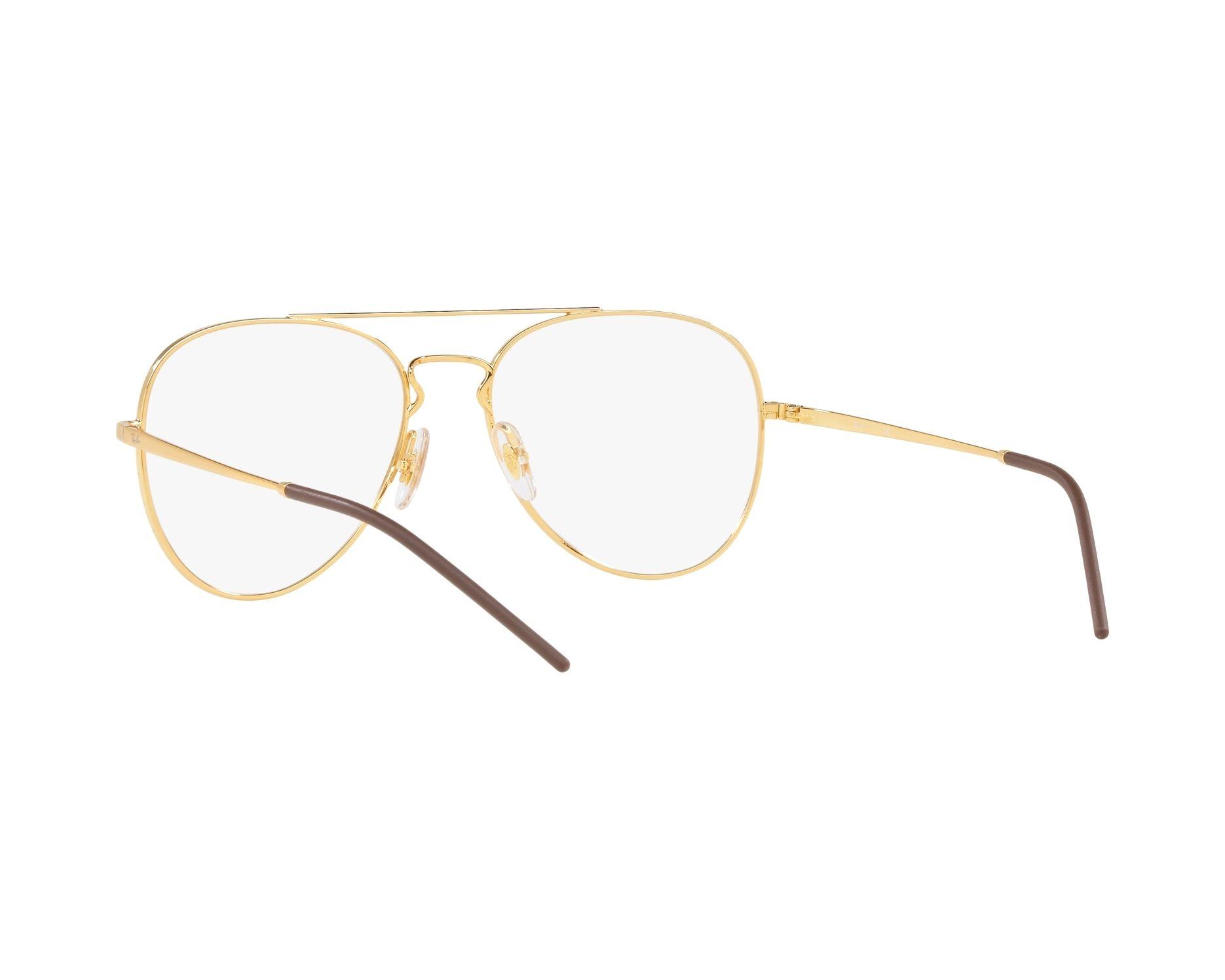 7fffebcdf6e eyeglasses Ray-Ban RX-6413 2500 54-17 Gold 360 degree view 6