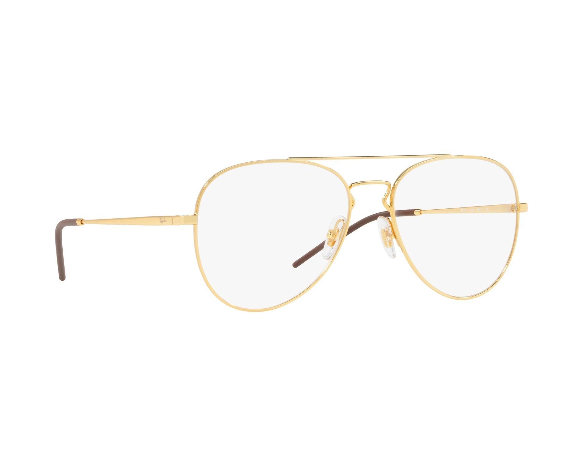 31605698164 eyeglasses Ray-Ban RX-6413 2500 54-17 Gold 360 degree view 12