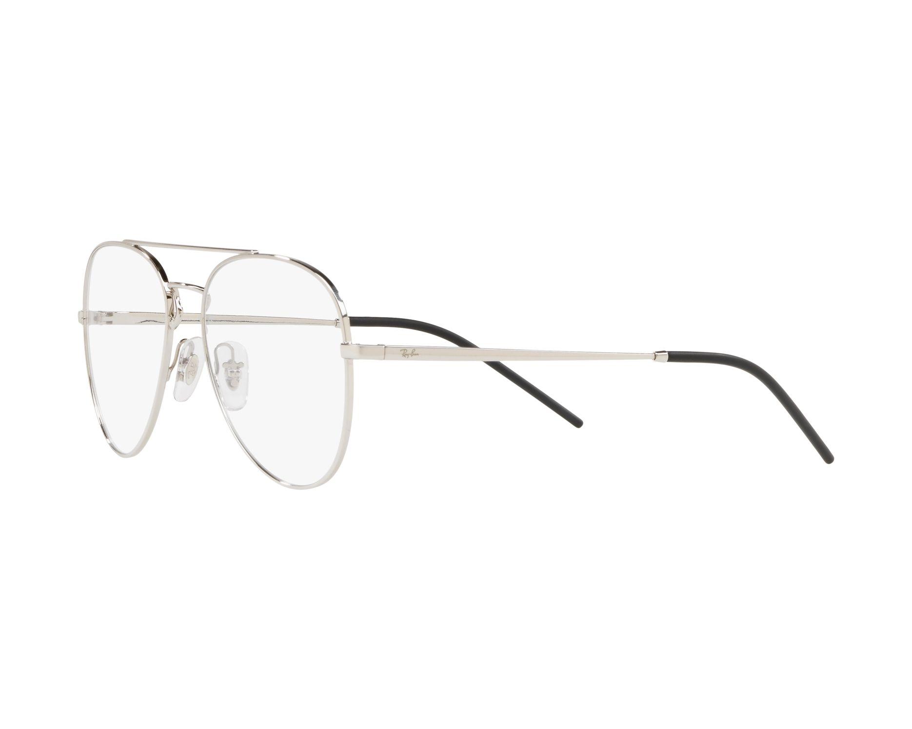 1e4e24c99b2 eyeglasses Ray-Ban RX-6413 2501 54-17 Silver 360 degree view 3