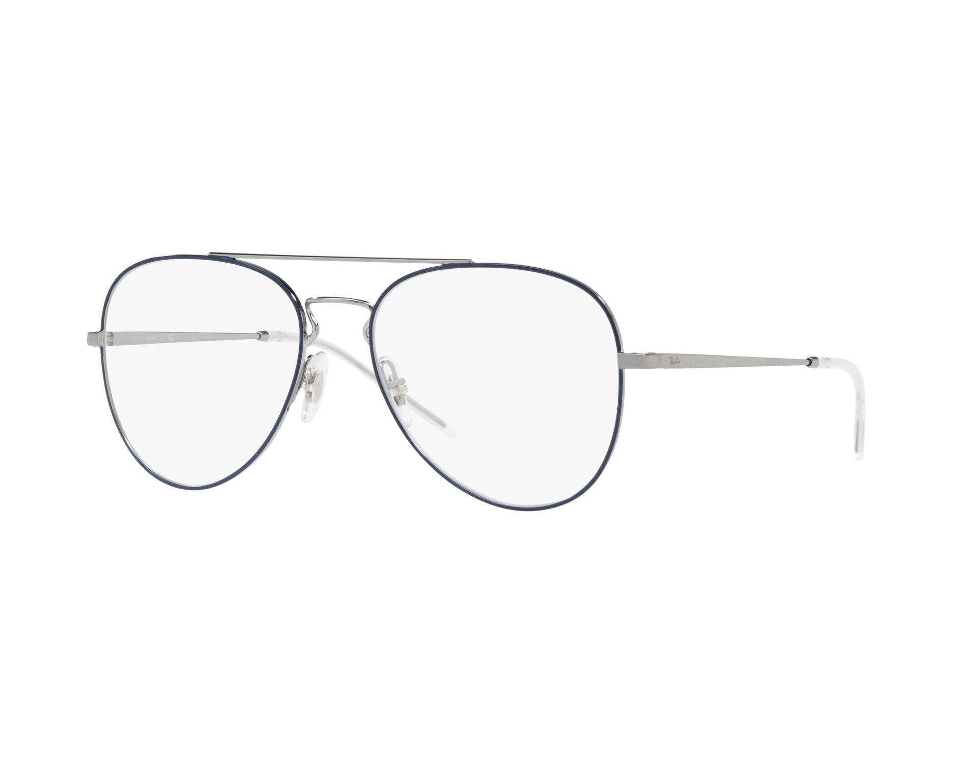 46f52210877 eyeglasses Ray-Ban RX-6413 2981 54-17 Blue Silver