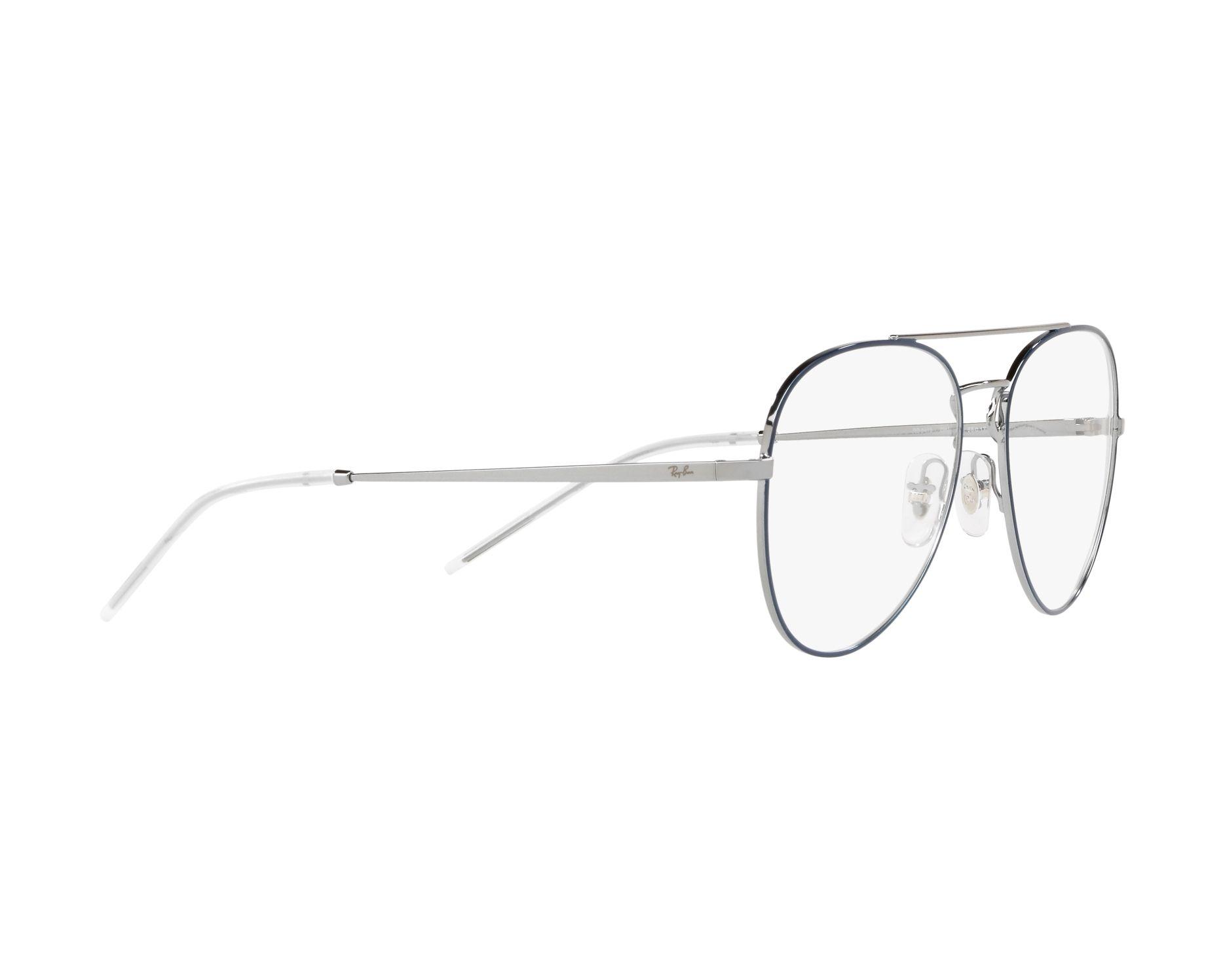 1cf34cac3a5 eyeglasses Ray-Ban RX-6413 2981 54-17 Blue Silver 360 degree view