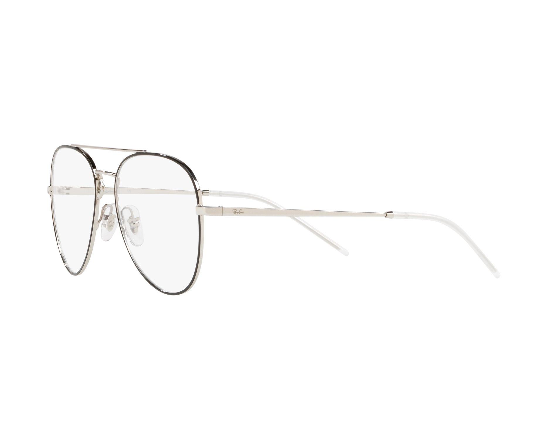 26bb0078557 eyeglasses Ray-Ban RX-6413 2983 - Silver Black 360 degree view 3