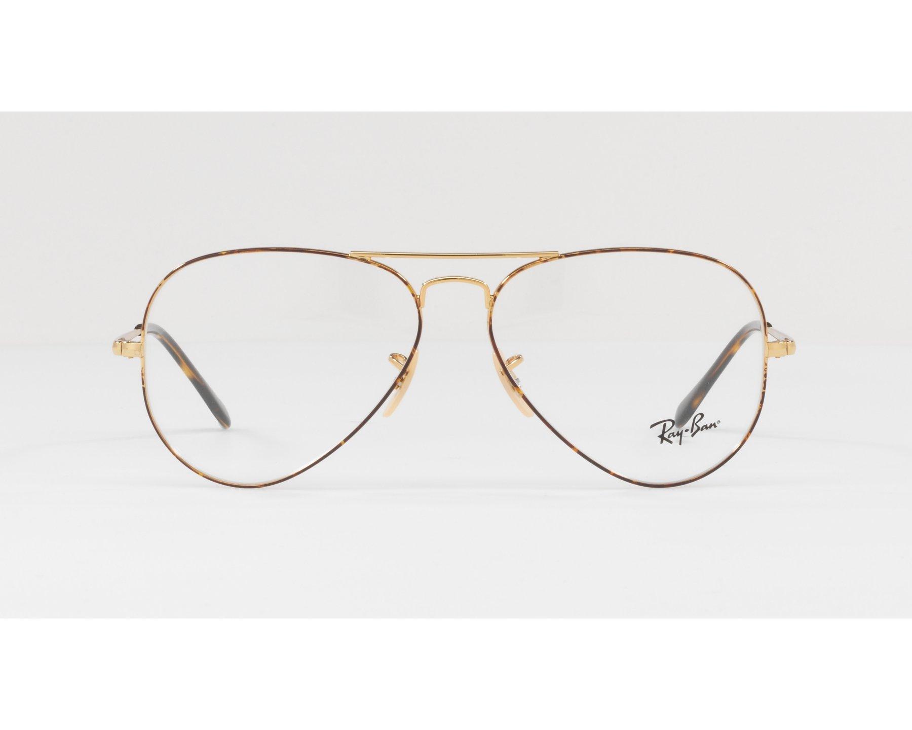 395c7f91f1aa4c eyeglasses Ray-Ban RX-6489 2945 55-14 Havana Gold 360 degree view