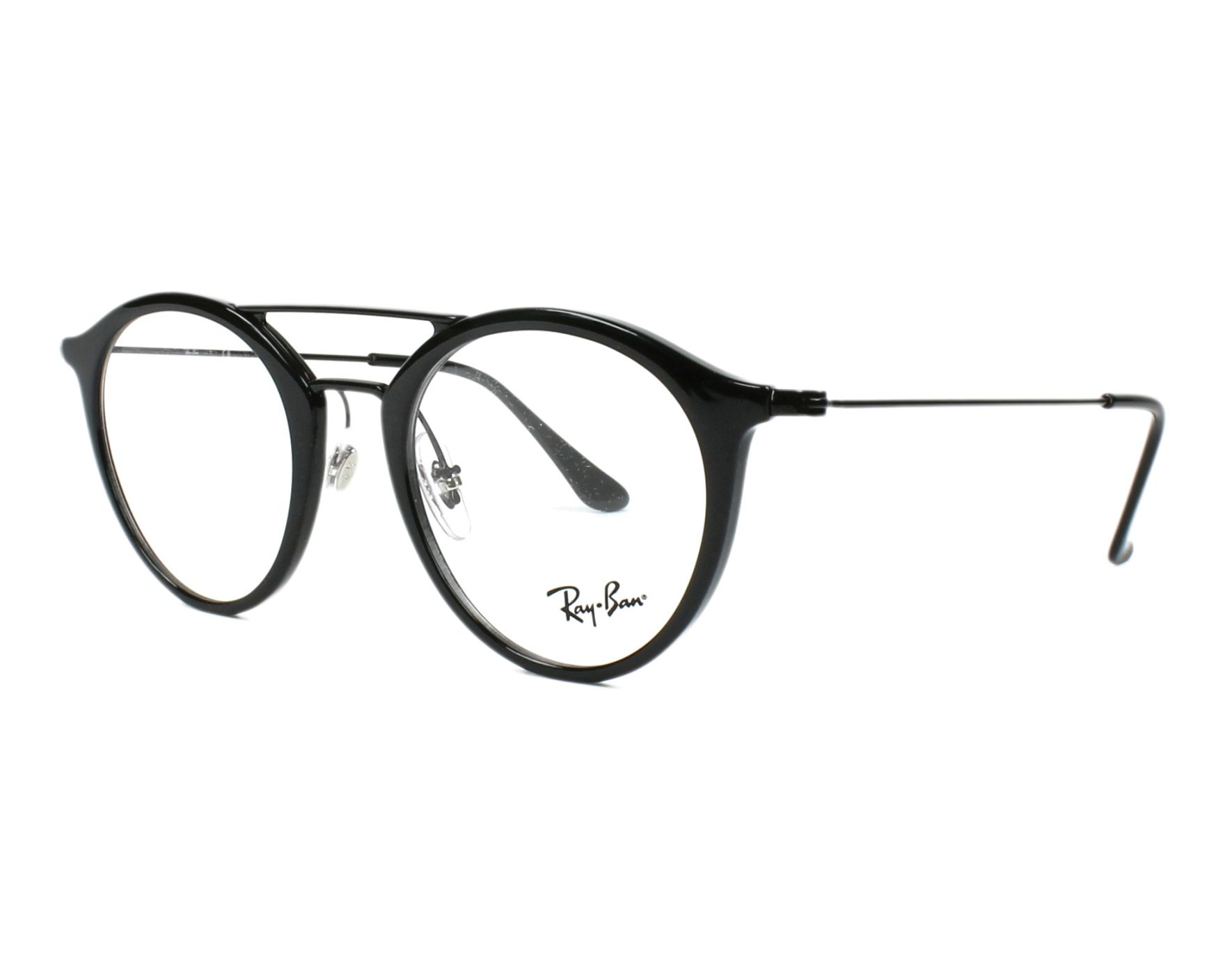 10ea36d7805 eyeglasses Ray-Ban RX-7097 5725 47-21 Black profile view