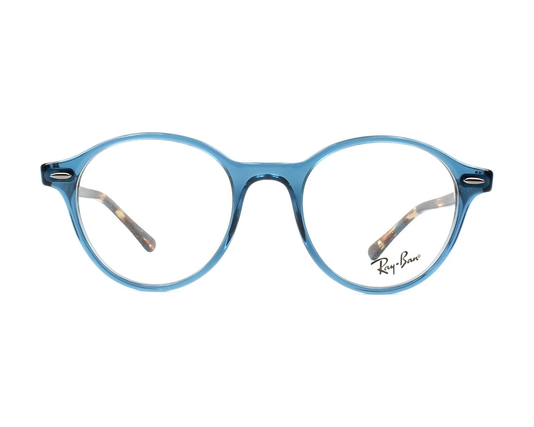f2e1c0f3b7 eyeglasses Ray-Ban RX-7118 8022 48-19 Blue Havana front view