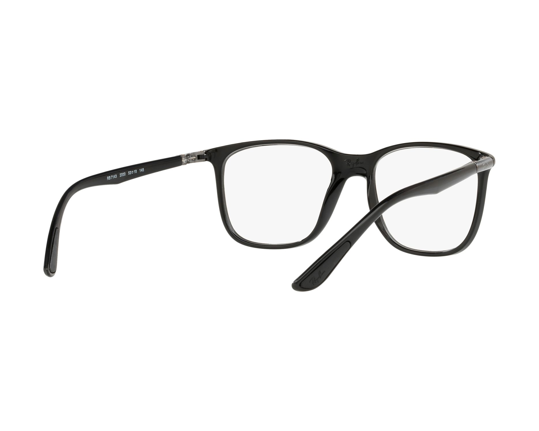 1f048cb67b eyeglasses Ray-Ban RX-7143 200 53-18 Black 360 degree view 8