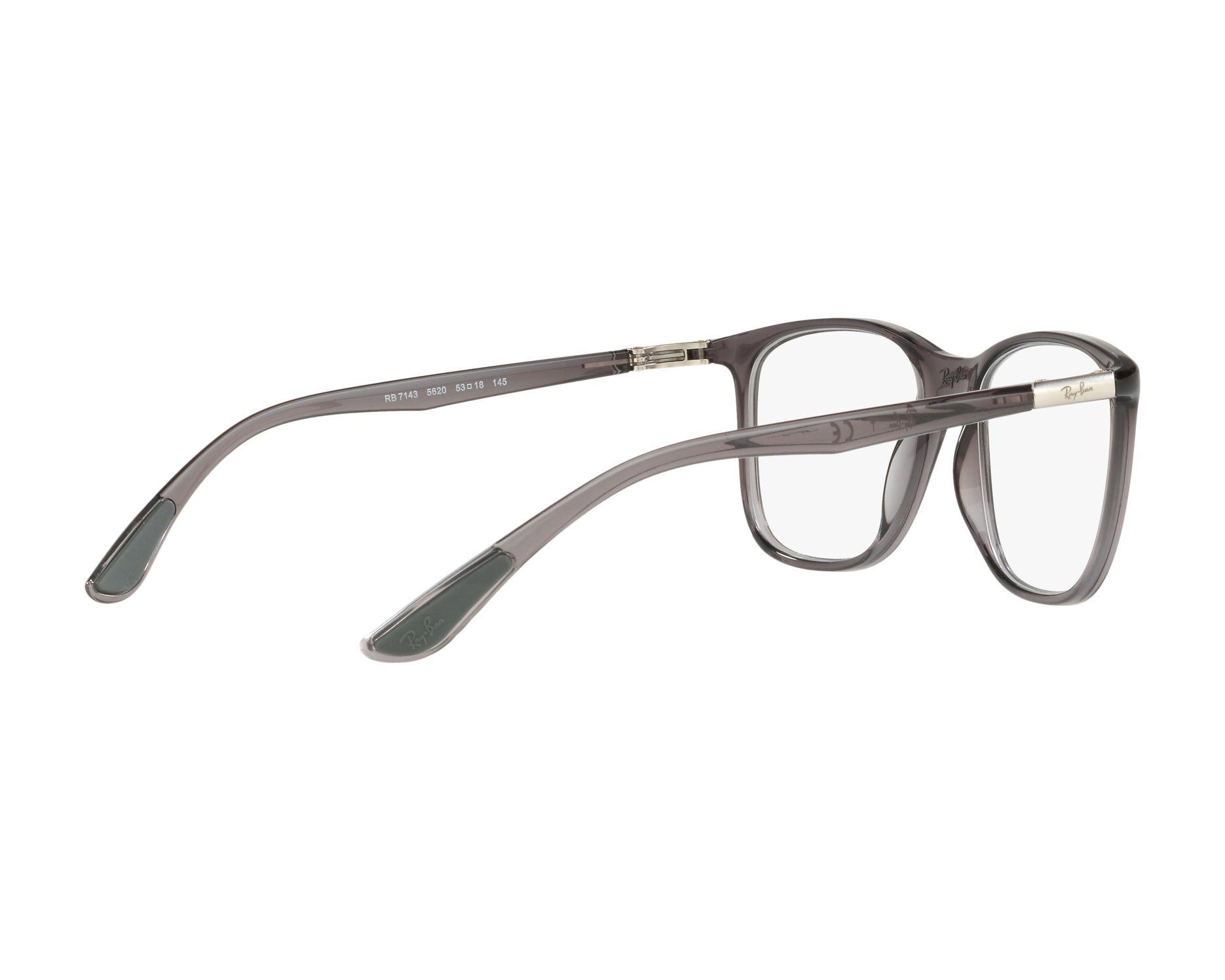621cbae8fa eyeglasses Ray-Ban RX-7143 5620 53-18 Grey 360 degree view 9