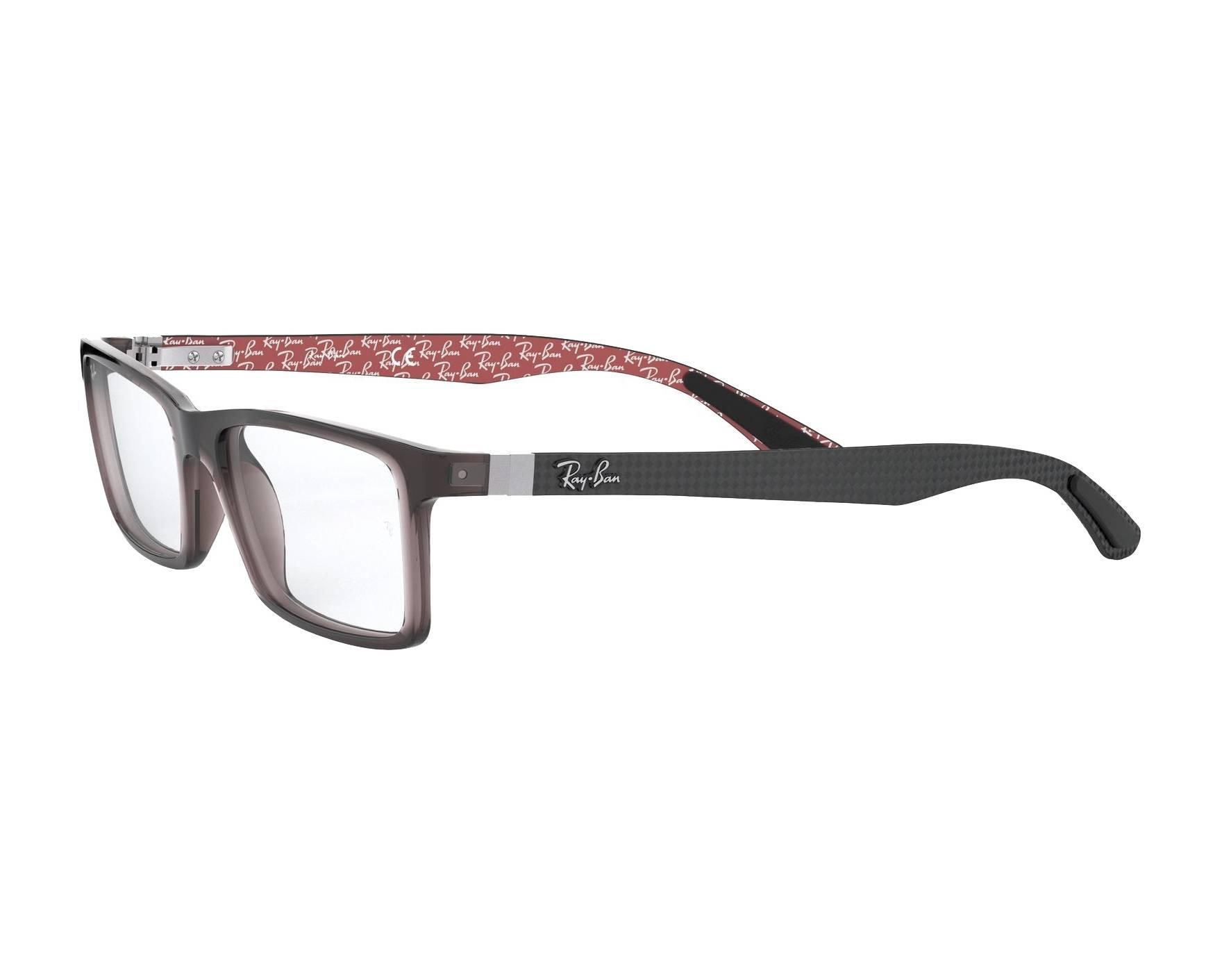 09fed326df eyeglasses Ray-Ban RX-8901 5845 53-17 Grey Grey 360 degree view
