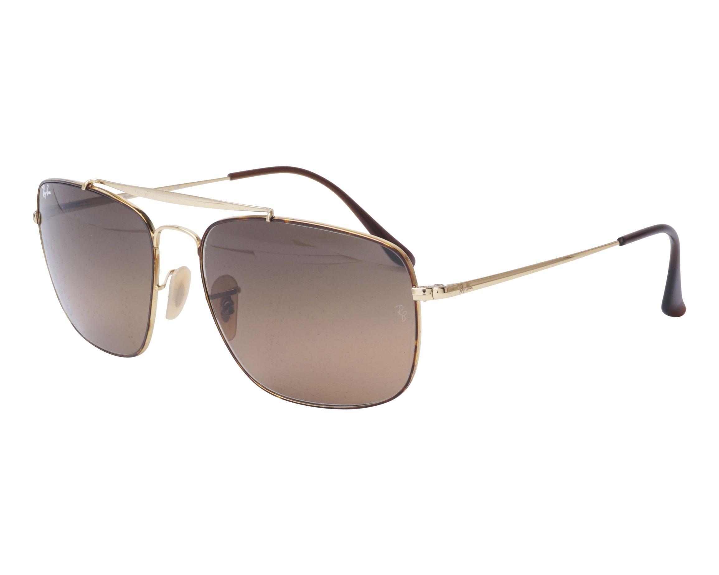 f8139aea932 Sunglasses Ray-Ban RB-3560 910443 58-17 Gold Havana profile view