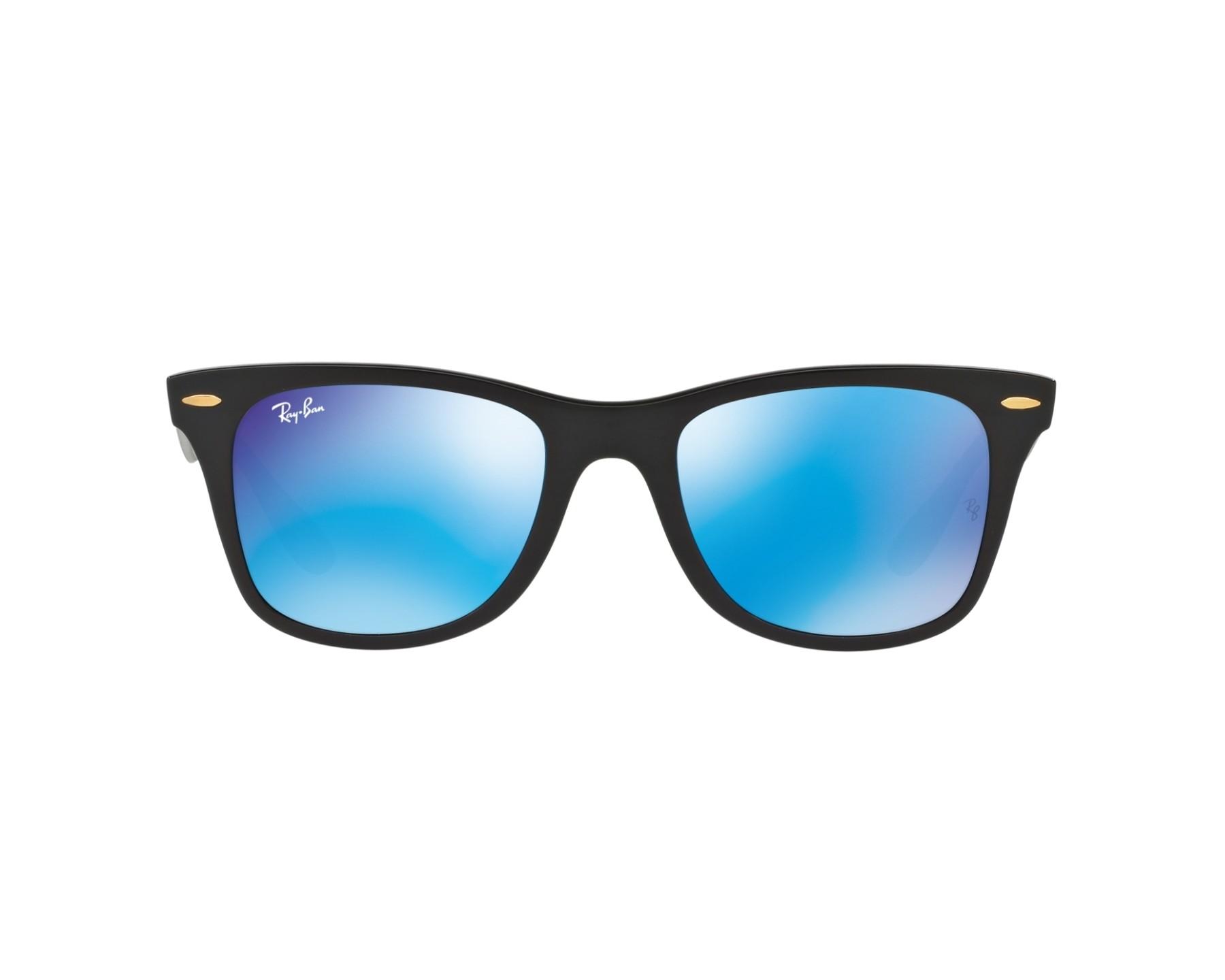 426ad7f7b14 Sunglasses Ray-Ban RB-4195 631855 52-20 Black 360 degree view 1