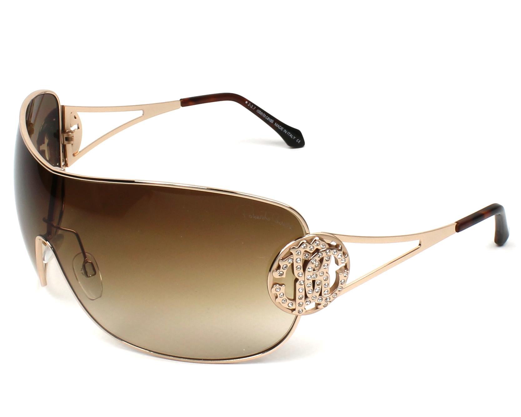 Roberto Cavalli Sunglasses Gold Copper with Brown Lenses RC-891S 28F ...