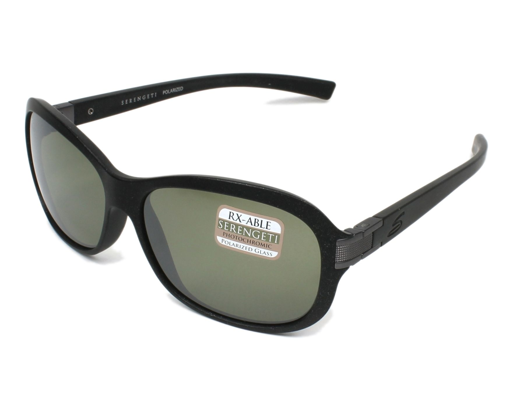 4c7149ba534 Polarized. Sunglasses Serengeti ISOLA 7938 60-12 Black Gun profile view