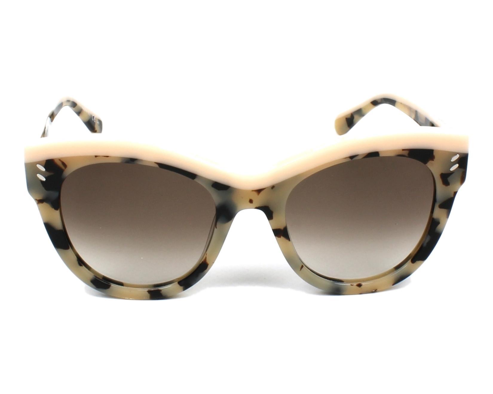 Stella McCartney 0021S Sonnenbrille Beige Rosa Havana 002 51mm kksNTd6