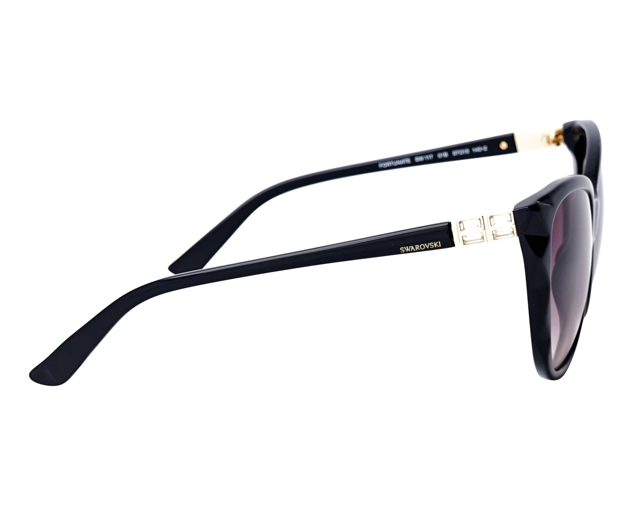 a8ef85e42548 Sunglasses Swarovski SK-0117-S 01B 57-15 Black side view