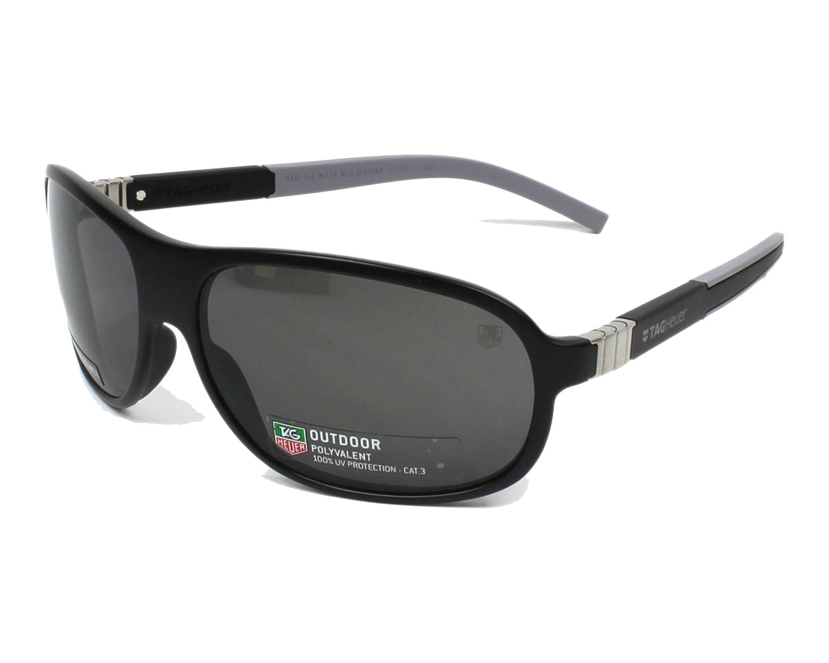 Tag Heuer Sunglasses Black with Grey Lenses TH-9331 103 - Visionet US