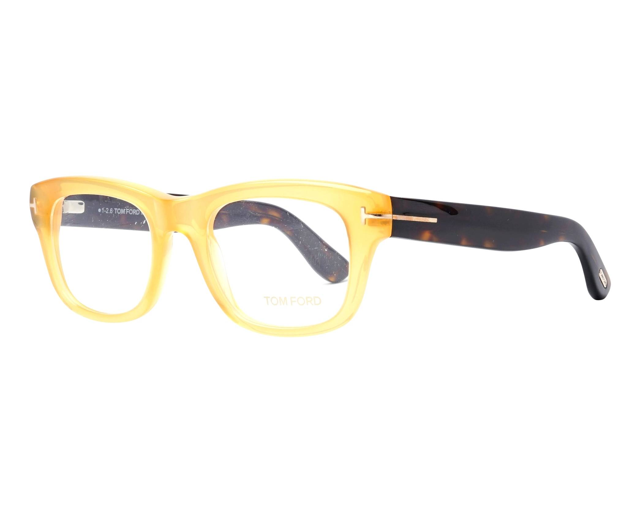 de4a56f6a1394 eyeglasses Tom Ford FT-5472 039 49-20 Yellow Havana profile view