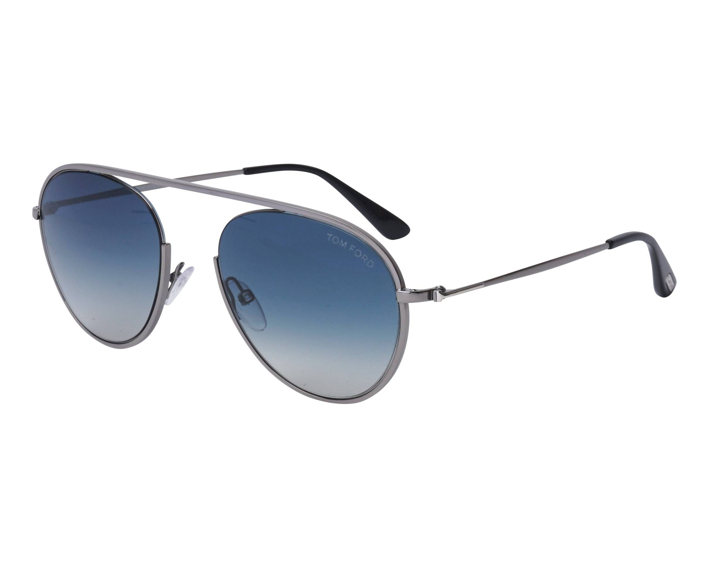 be009ed665 Sunglasses Tom Ford TF-599 08W 55-19 Silver profile view