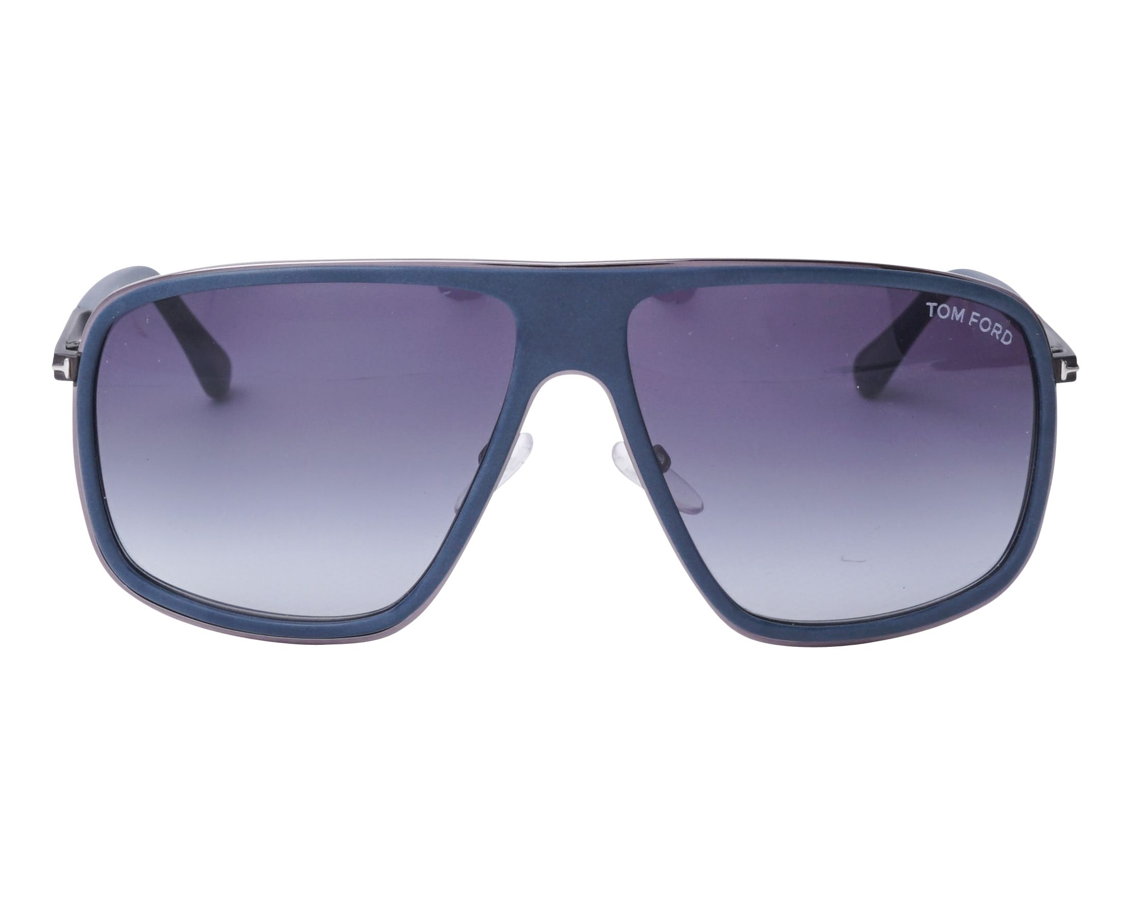 ac38fa18c3 Sunglasses Tom Ford FT-463 92W 60-13 Blue Gun front view