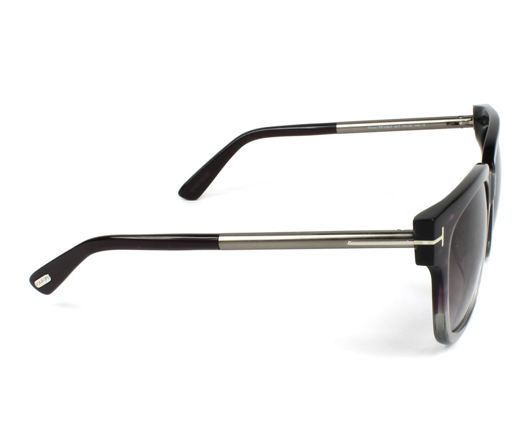 8ce7113268e4 Sunglasses Tom Ford TF-436 83T - Purple Grey side view