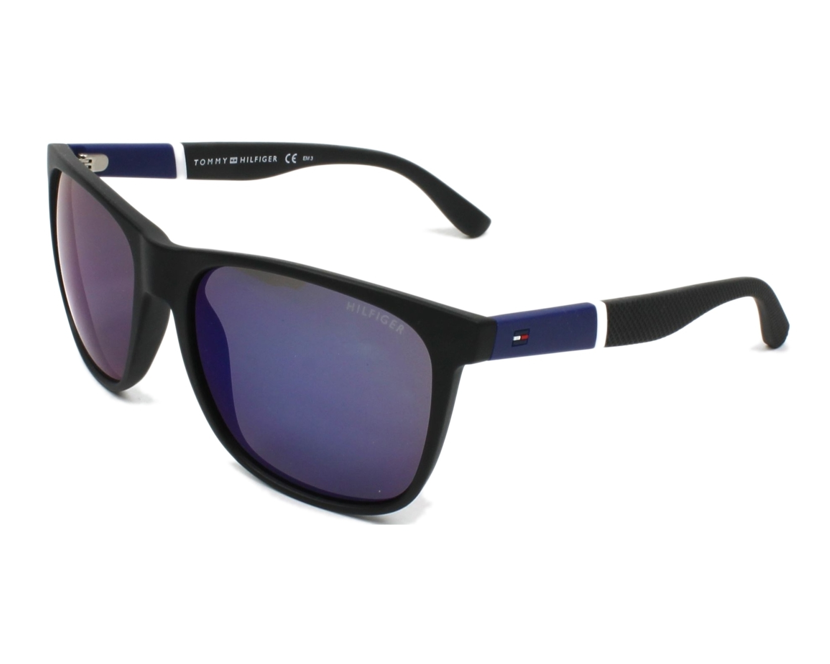thumbnail Sunglasses Tommy Hilfiger TH-1281-S FMA XT - Black profile view 26af799f05