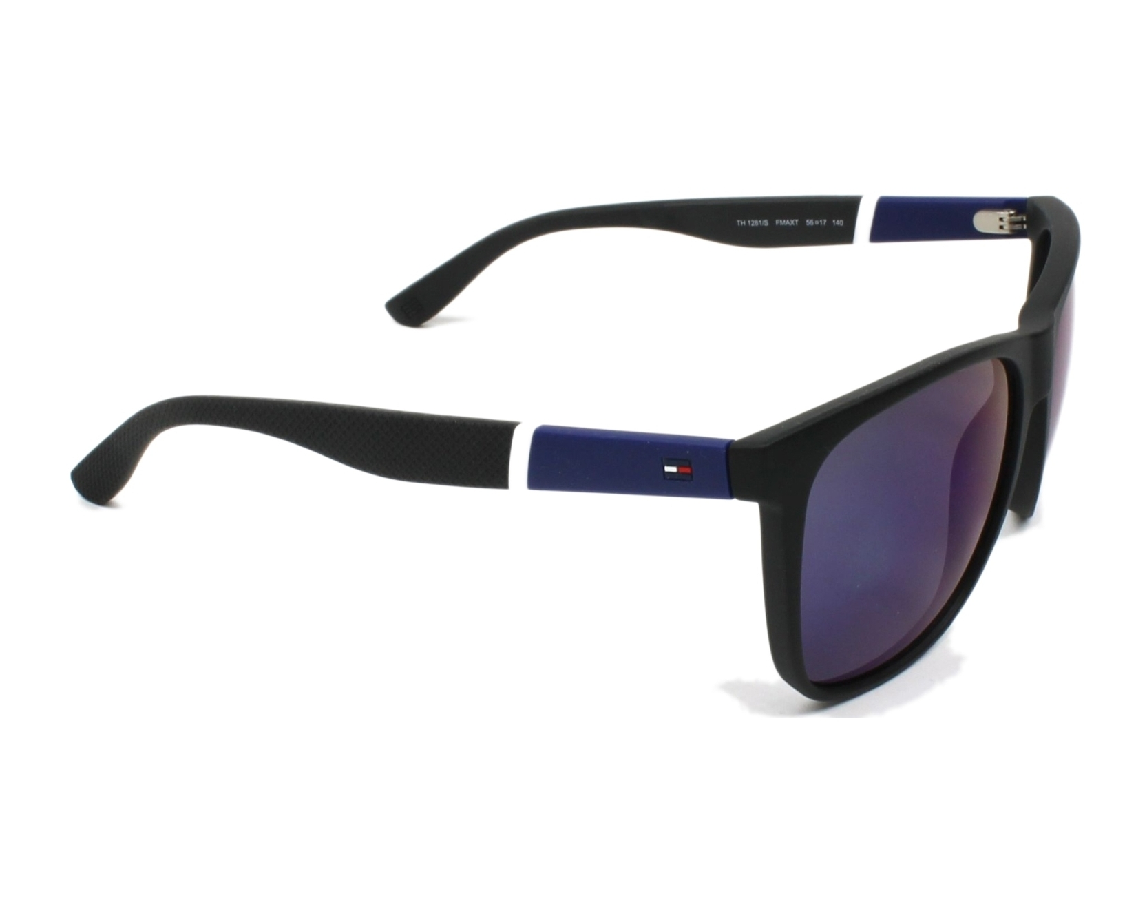thumbnail Sunglasses Tommy Hilfiger TH-1281-S FMA XT - Black side view b2c7672c49
