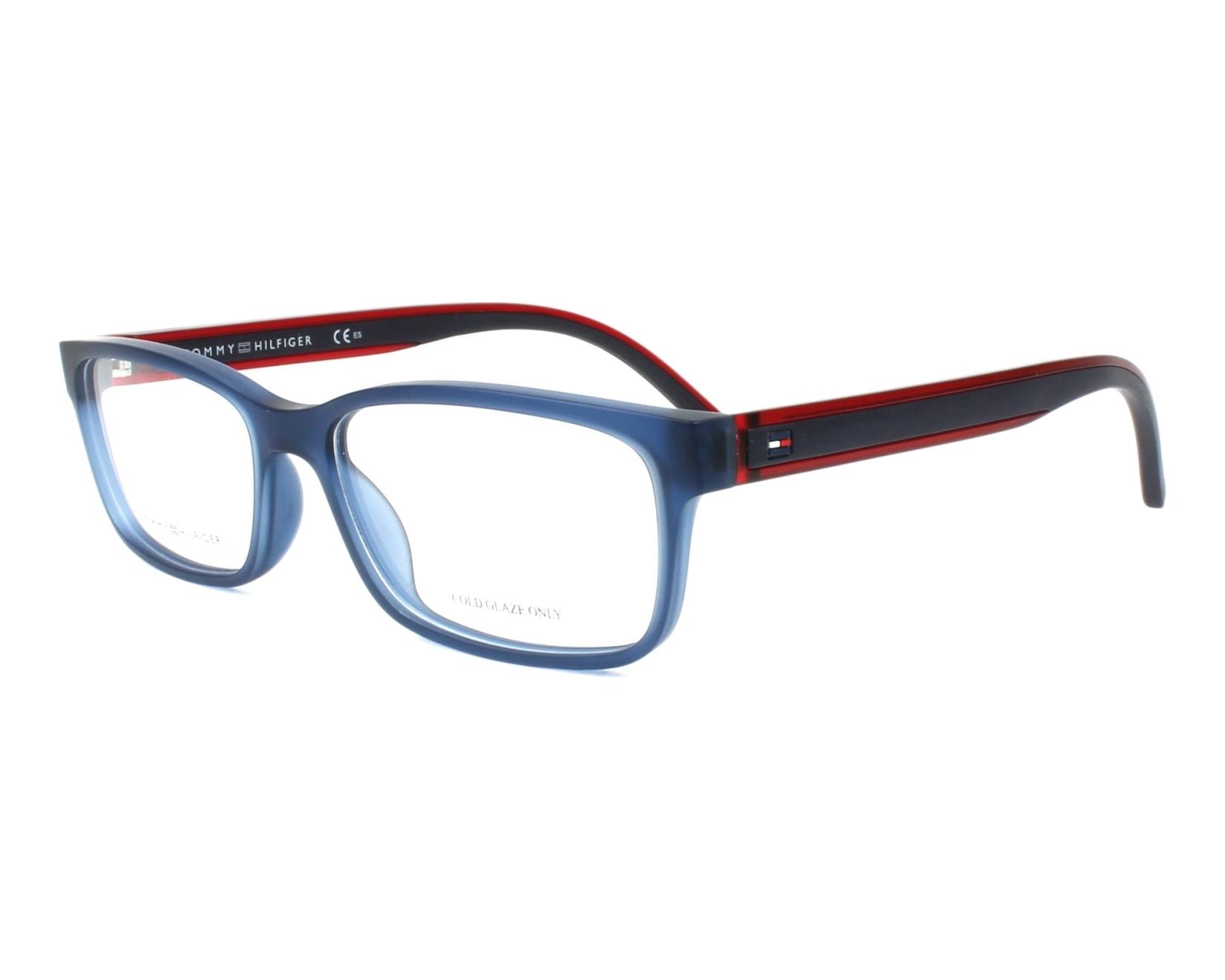 9932faf5b53 eyeglasses Tommy Hilfiger TH-1495 PJP 54-16 Blue Blue profile view