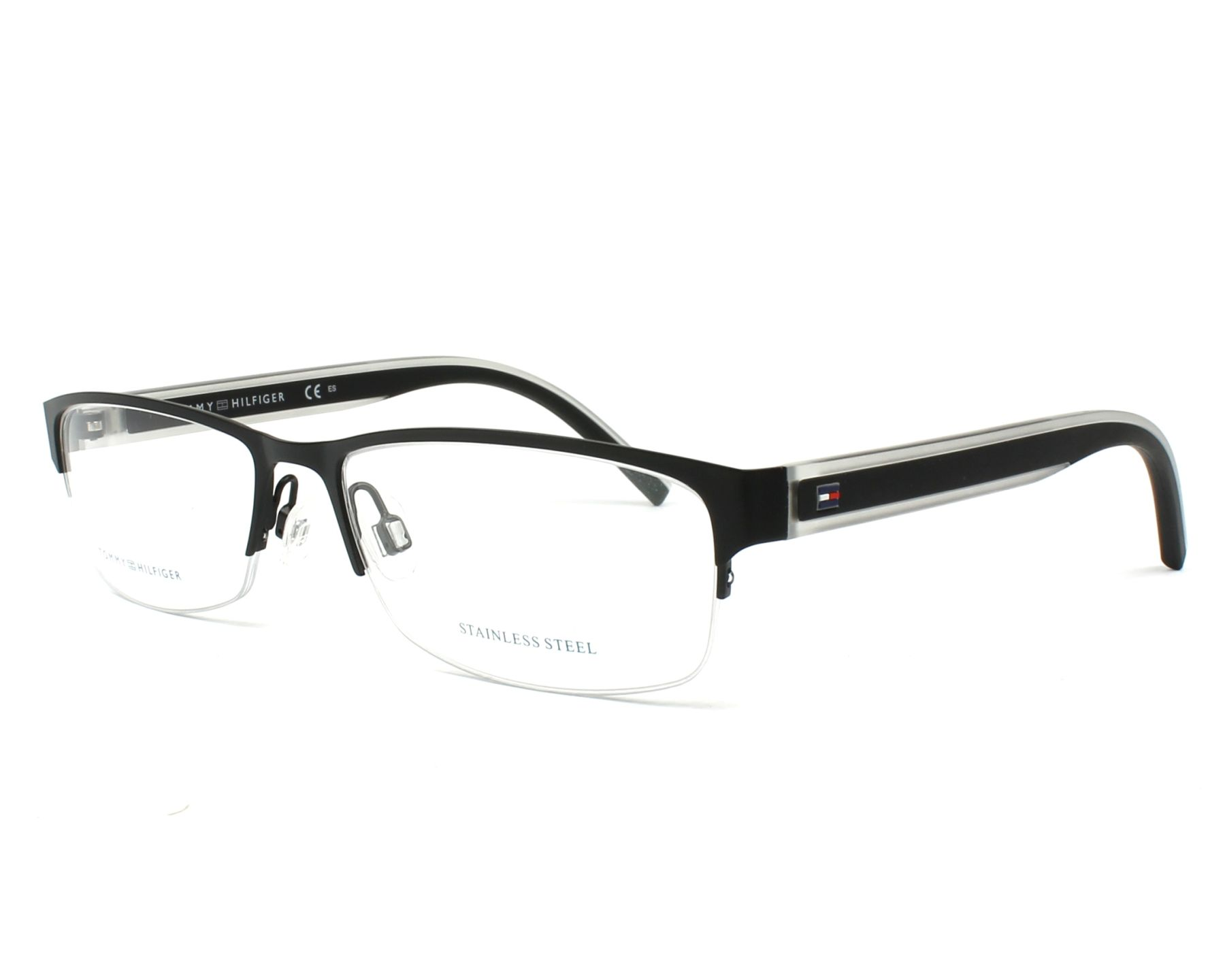 eyeglasses Tommy Hilfiger TH-1496 003 - Black Crystal profile view