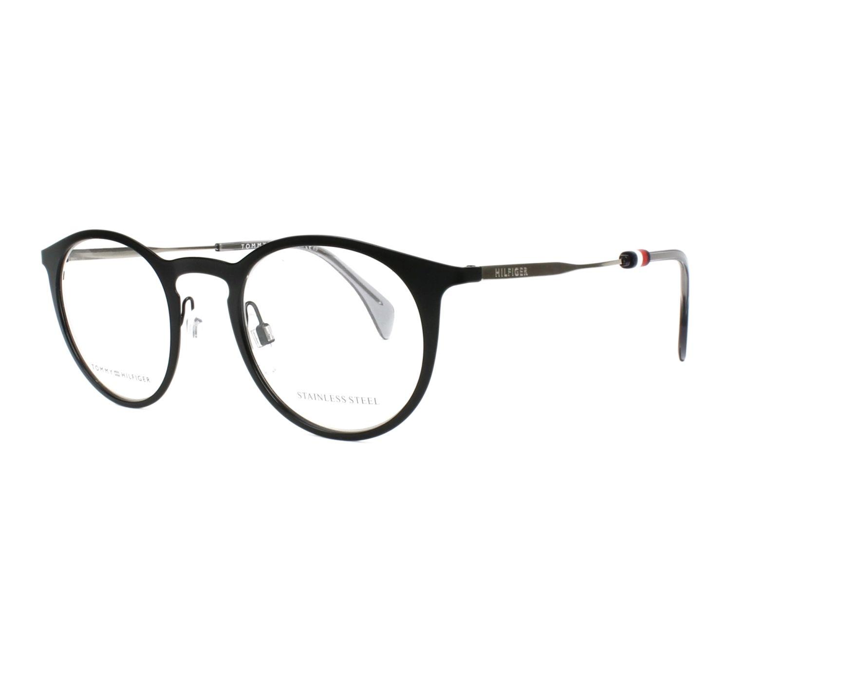 4d475526 eyeglasses Tommy Hilfiger TH-1514 807 48-22 Black Silver profile view