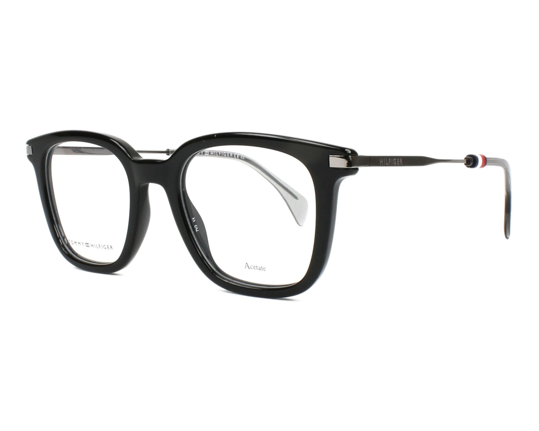 eyeglasses Tommy Hilfiger TH-1516 807 48-20 Black Silver profile view