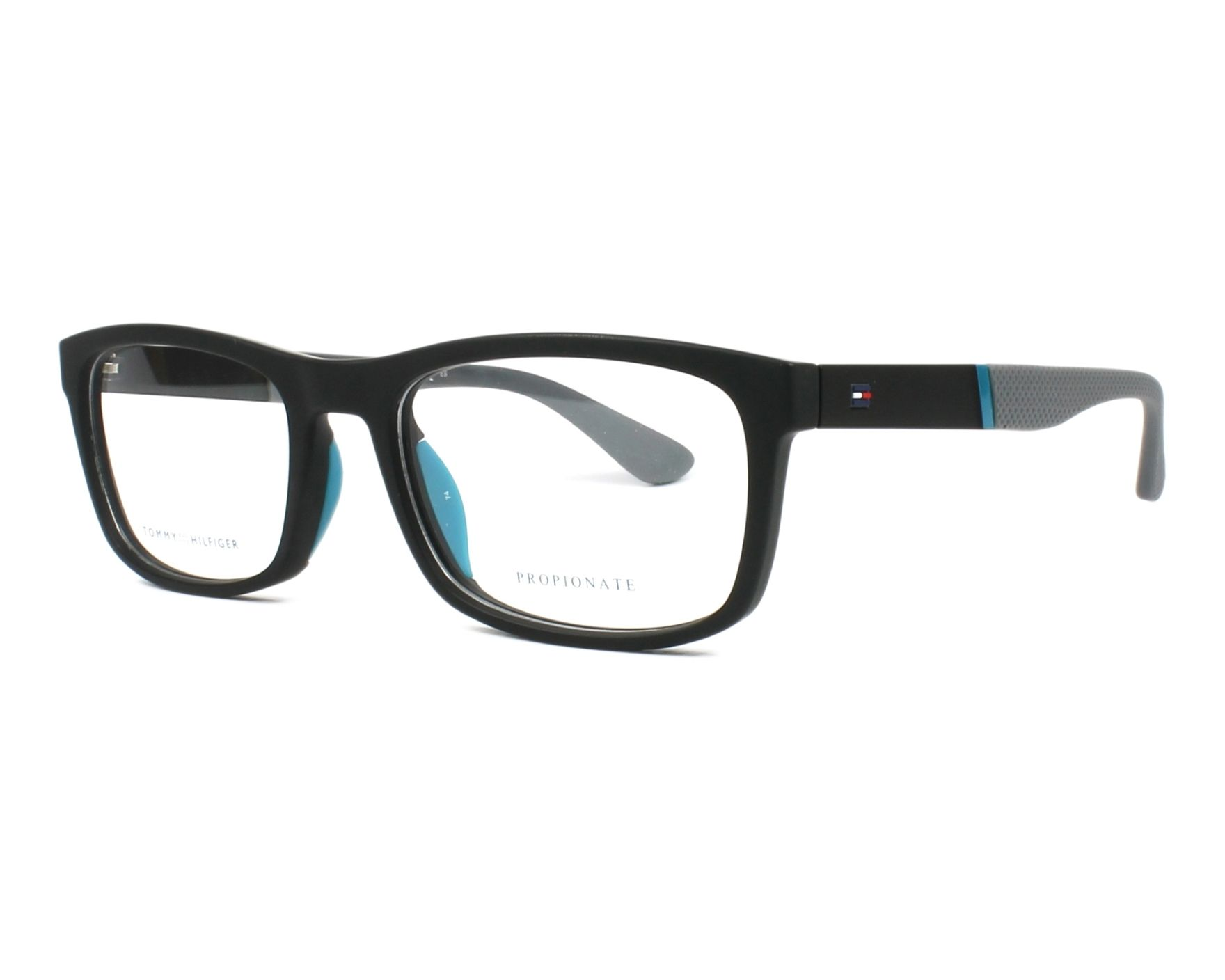 6d02bc00e68 eyeglasses Tommy Hilfiger TH-1522 003 - Black Grey profile view