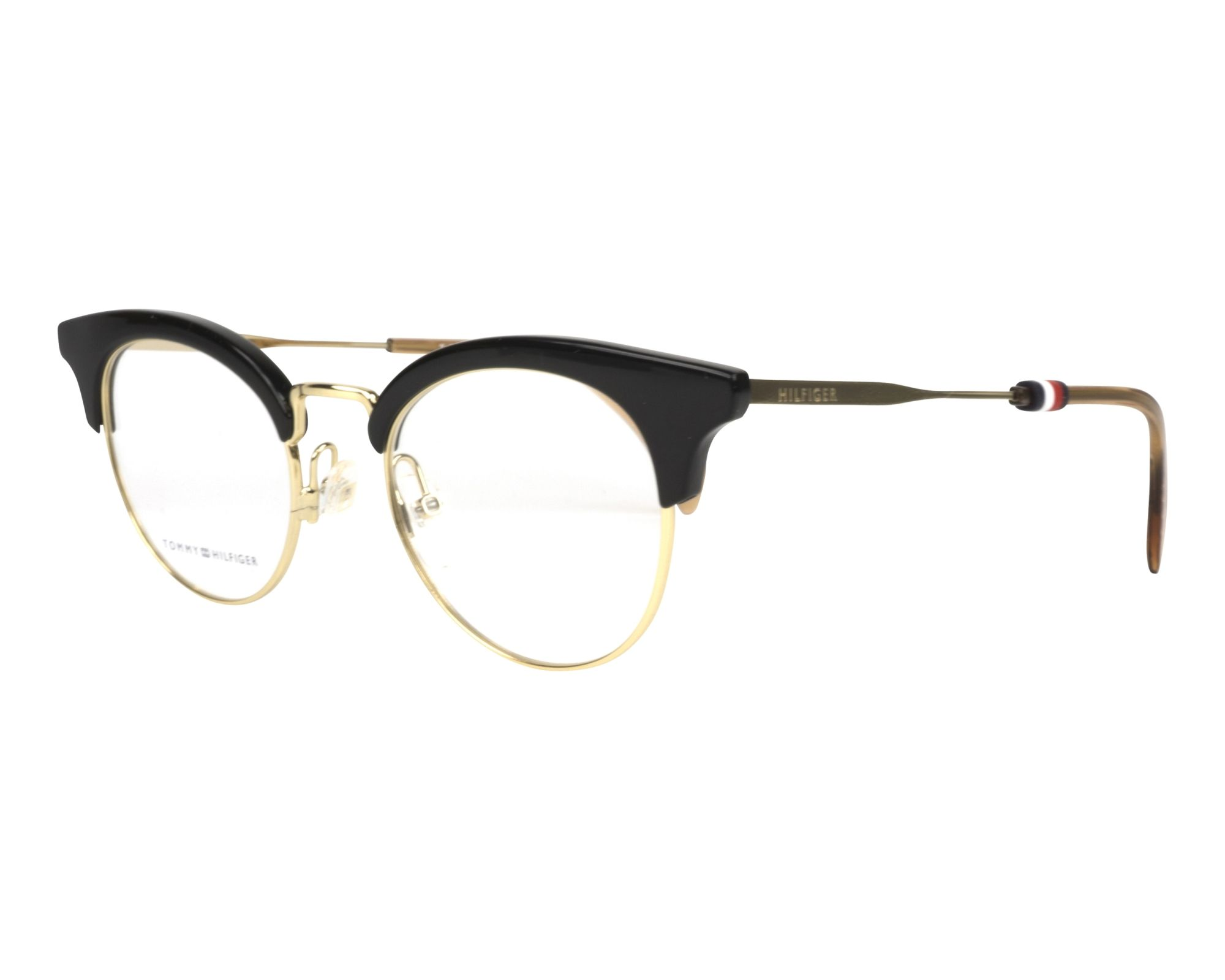 eyeglasses Tommy Hilfiger TH-1540 807 49-20 Black Gold profile view 990be992d53