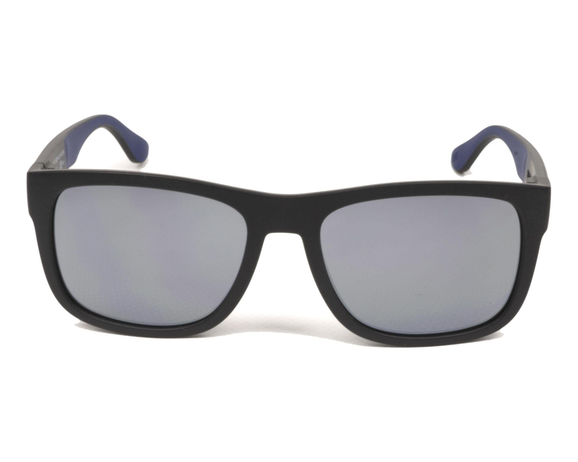 Tommy Hilfiger Sunglasses TH 1556//S DCD SQ Dark Blue Yellow Gold Mirror
