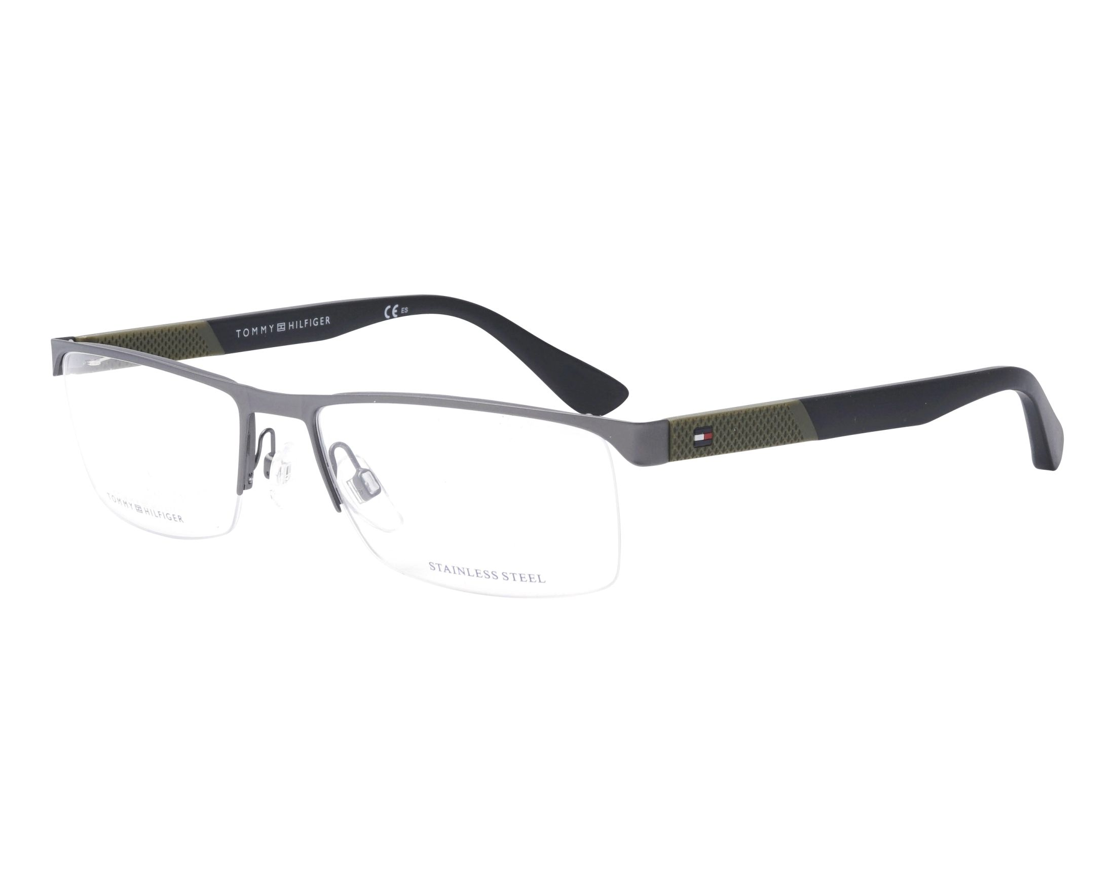 eyeglasses Tommy Hilfiger TH-1562 R80 56-17 Gun Black profile view