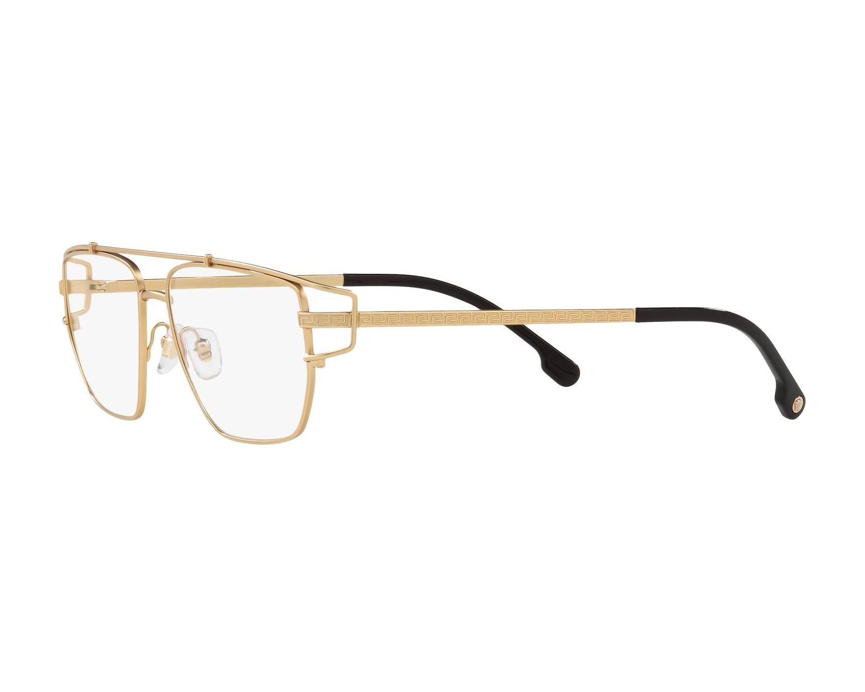 36fdaea3d56 eyeglasses Versace VE-1257 1410 55-15 Gold 360 degree view 3