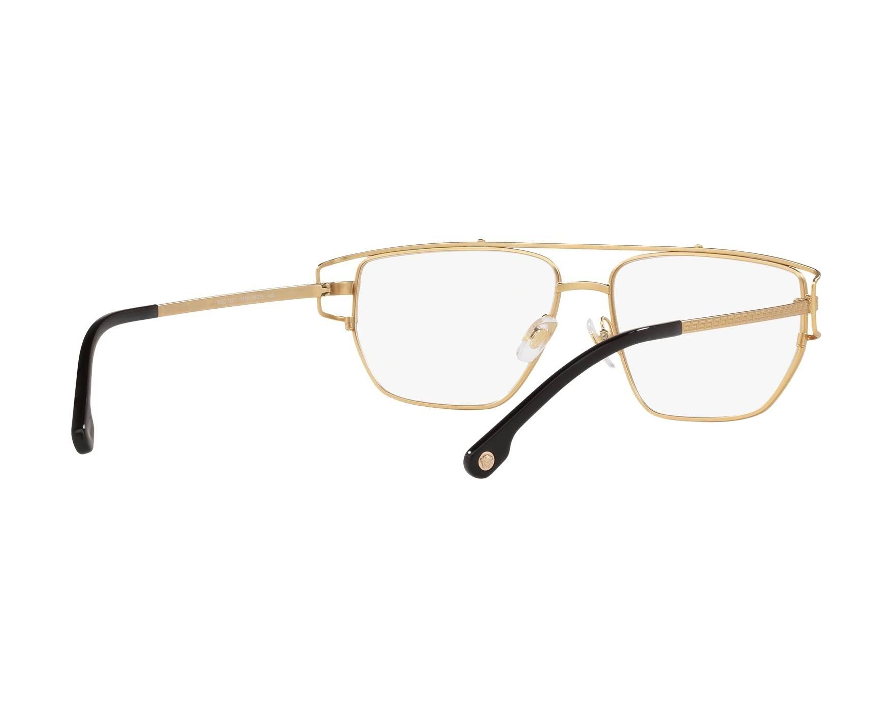 058677199c6 eyeglasses Versace VE-1257 1410 55-15 Gold 360 degree view 8