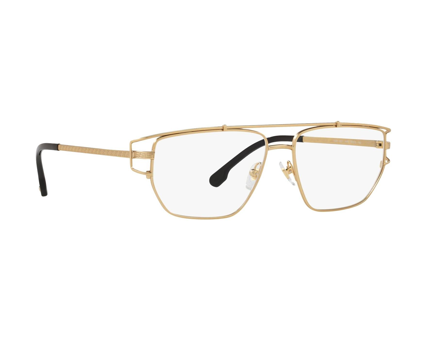 192f3ff286a eyeglasses Versace VE-1257 1410 55-15 Gold 360 degree view 12