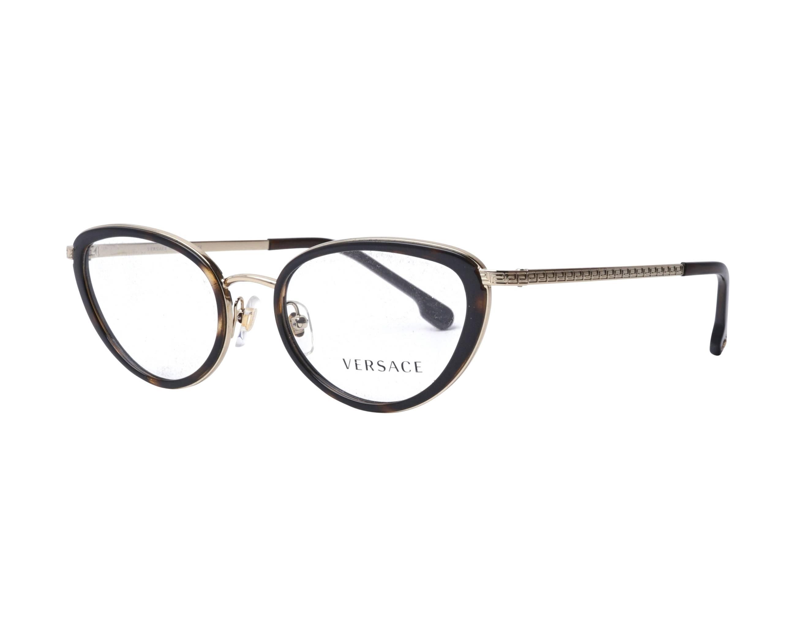 2e4468f05d eyeglasses Versace VE-1258 1440 52-19 Havana Gold profile view