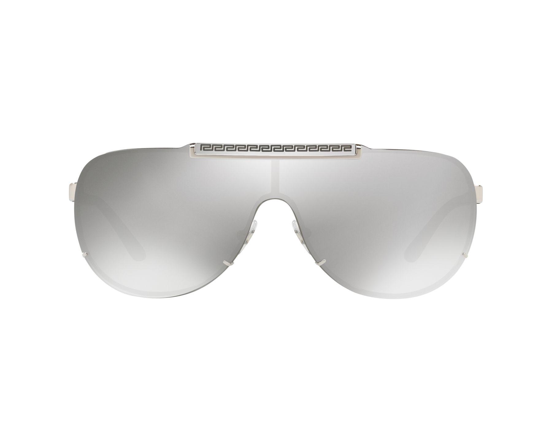 7ec93228098 Sunglasses Versace VE-2140 10006G 67-16 Silver Black 360 degree view 1