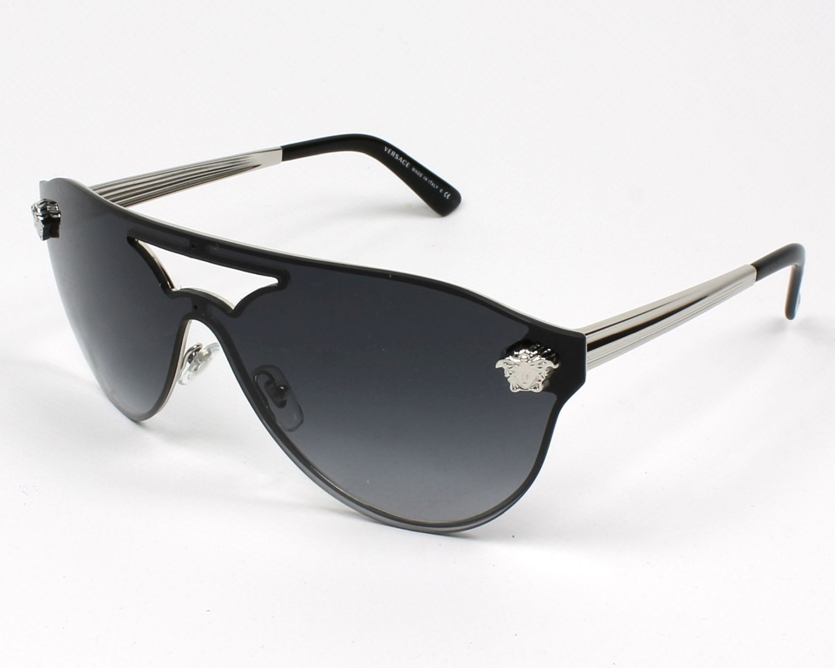7d6940fff1 Versace Sunglasses Silver with Grey Lenses VE-2161 1000 8G - Visionet US