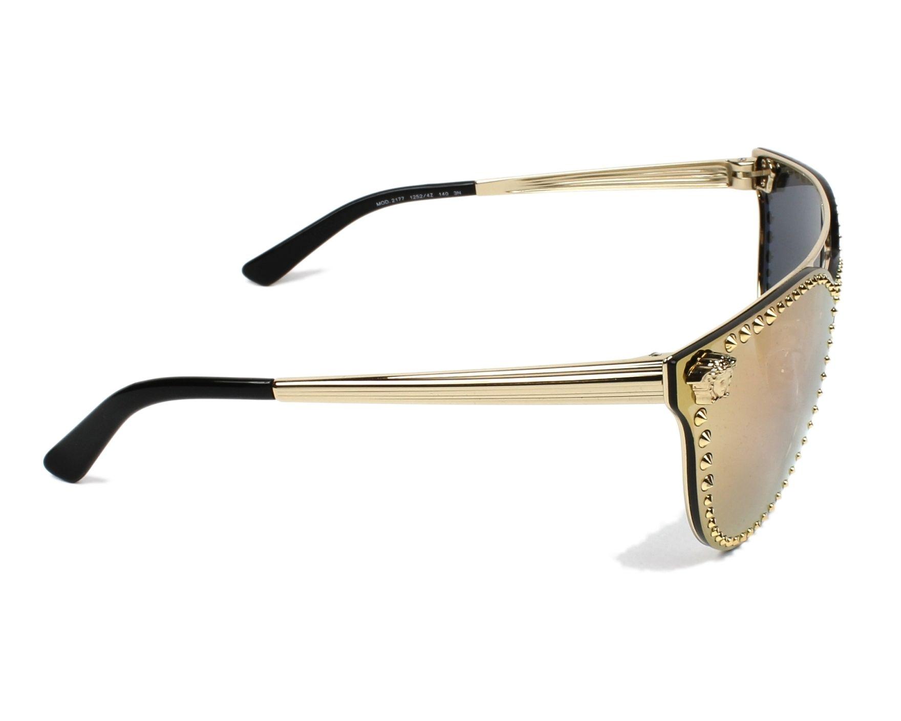 59ba7d2858868 Sunglasses Versace VE-2177 12524Z - Gold side view