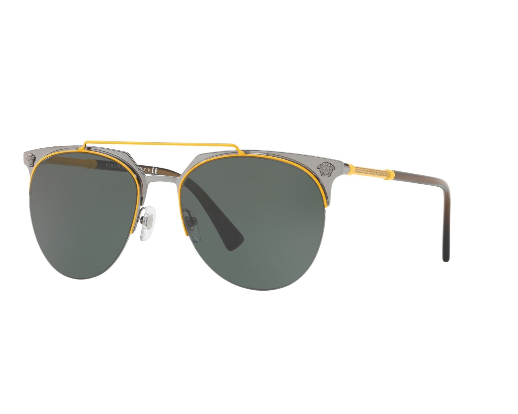 81b57e415f Sunglasses Versace VE-2181 100171 - Gun Yellow